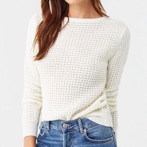 3 for $13! NWT Forever 21 White Perforated Sweater
